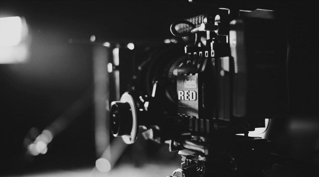 Black and White image of Red Epic Dragon 6K Camera system