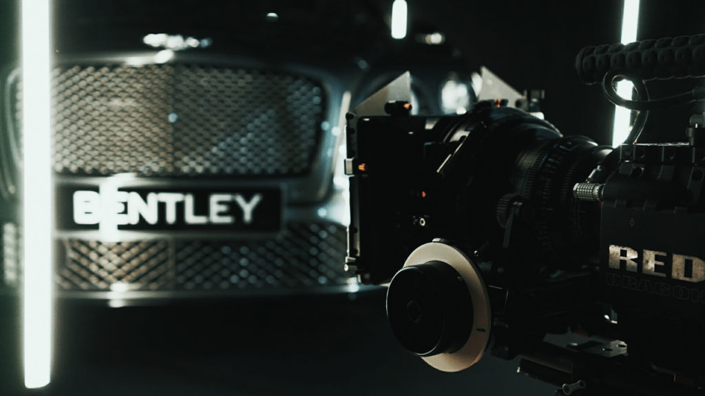 Bentley shoot with Red Epic Dragon camera equipment Red Epic-W now available for hire as well as editing and post production